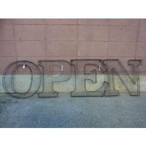 アルファベットサイン/立体文字看板(メッシュ) OPEN オープン(全2色) アメリカンサイン *メール便不可 *代引き不可|wappenstore