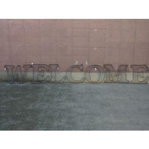 アルファベットサイン/立体文字看板(メッシュ) WELCOME ウェルカム(全2色) アメリカンサイン *メール便不可 *代引き不可|wappenstore