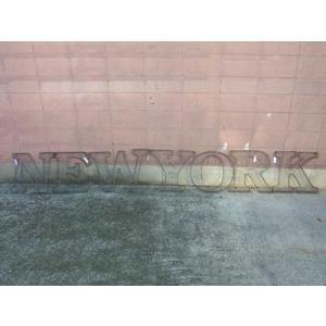 アルファベットサイン/立体文字看板(メッシュ) NEW YORK ニューヨーク(全2色) アメリカンサイン *メール便不可 *代引き不可|wappenstore