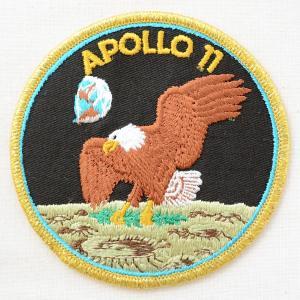 ワッペン アポロ11号記章 Apollo 11(宇宙/糊なし) 名前 作り方 AS094|wappenstore