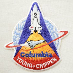 ワッペン コロンビア号(スペースシャトル/糊なし) 名前 作り方 AS098|wappenstore