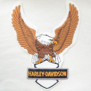 特大ロゴワッペン ハーレーダビッドソン(イーグルホワイト/糊なし) AS100 wappenstore