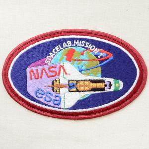 宇宙ワッペン ナサ NASA&esa(スペースシャトル/糊なし) 名前 作り方 AS103|wappenstore