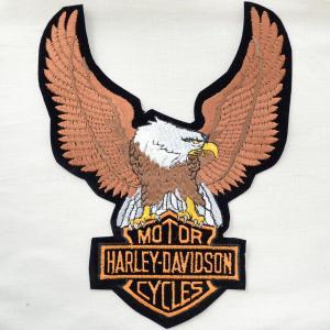 特大ロゴワッペン ハーレーダビッドソン(イーグルブラック/糊なし) AS104 wappenstore