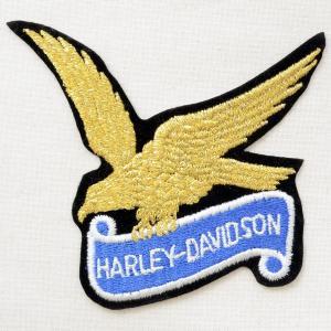 ロゴワッペン ハーレーダビッドソン(ゴールド/糊なし) AS107|wappenstore