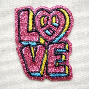 ワッペン リンリンエミリー (LOVE) 名前 作り方 BB350-BB77|wappenstore