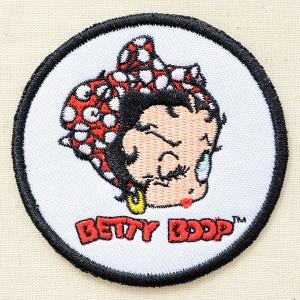 ワッペン ベティブープ Betty Boop(リボン/ラウンド) BBW-003|wappenstore