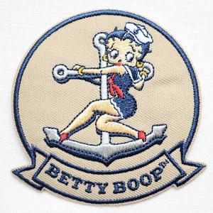 ワッペン ベティブープ Betty Boop(マリン/セーラー) BBW-005|wappenstore