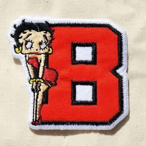 ワッペン ベティブープ Betty Boop(B/レッド&ブラック) 名前 作り方 BBW-011|wappenstore