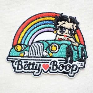 ワッペン ベティブープ Betty Boop(オープンカー/レインボー) 名前 作り方 BBW-017|wappenstore