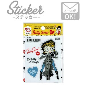 ステッカー/シール ベティブープ Betty Boop(バイカー) BT-06|wappenstore