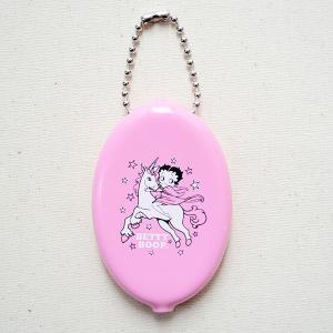 ラバーコインケース ベティブープ Betty Boop/ユニコーン(ピンク) アメリカ製 BT-BABYPINK|wappenstore
