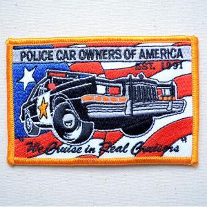 ビックアメリカンワッペン POLICE CAR 名前 作り方 BW003-05023 wappenstore