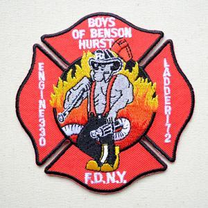 ビックアメリカンワッペン FDNY ニューヨーク消防局 名前 作り方 BW003-05028 wappenstore