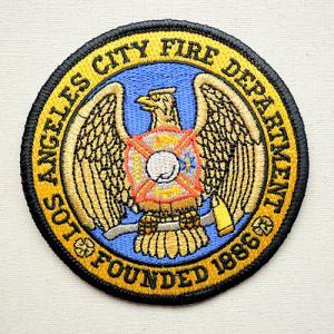 ビックアメリカンワッペン ロサンゼルス市消防局 名前 作り方 BW003-05029 wappenstore