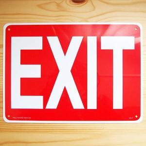 看板/プラサインボード 出口 Exit CA-01 *メール便不可|wappenstore