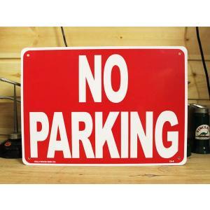 看板/プラサインボード 駐車禁止 No Parking CA-08 *メール便不可|wappenstore