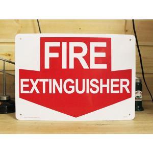 看板/プラサインボード 消火栓はここです Fire Extinguisher CA-13 *メール便不可|wappenstore