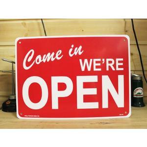看板/プラサインボード オープン(営業中) Come in We're Open CA-14 *メール便不可|wappenstore