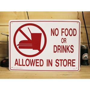 看板/プラサインボード 飲食禁止 No Food or Drinks CA-16 *メール便不可|wappenstore