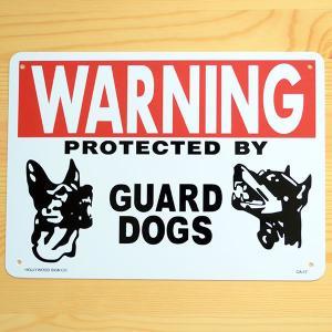 看板/プラサインボード 番犬に注意 Warning Guard Dogs CA-17 *メール便不可|wappenstore