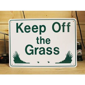 看板/プラサインボード 芝生に入るな Keep Off The Grass CA-18 *メール便不可|wappenstore