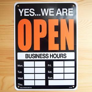 看板/プラサインボード オープン/クローズド Open/Closed(時間記入可/両面プリント) CA-20 *メール便不可|wappenstore