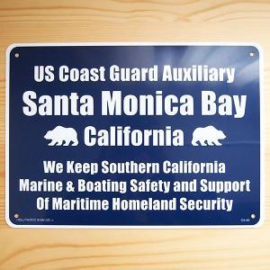 看板/プラサインボード サンタモニカ湾 沿岸警備隊補助隊 Santa Monica Bay CA-40 *メール便不可|wappenstore