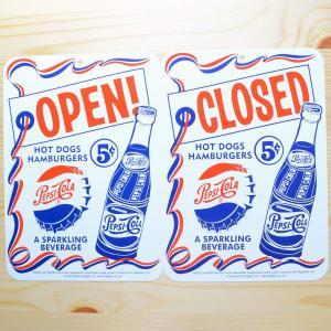 看板/プラサインボード ペプシコーラ Pepsi-Cola オープン/クローズド(タテ/両面プリント) CCA-008A|wappenstore