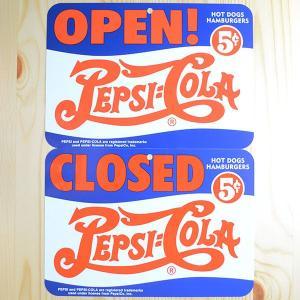 看板/プラサインボード ペプシコーラ Pepsi-Cola オープン/クローズド(ヨコ/両面プリント) CCA-008B|wappenstore