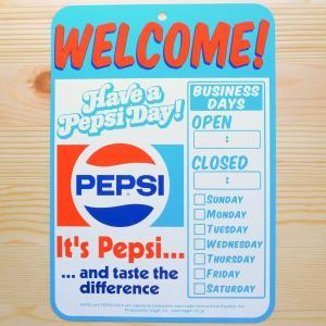 看板/プラサインボード ペプシコーラ Pepsi-Cola ウェルカム(いらっしゃいませ) CCA-010B|wappenstore