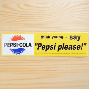 特大バンパーステッカー/シール ペプシコーラ Pepsi-Cola(ペプシプリーズ) CCF-005C|wappenstore