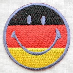 ワッペン スマイルマーク/スマイリーフェイス(ドイツ国旗)|wappenstore