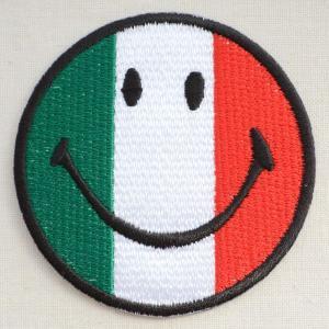 ワッペン スマイルマーク/スマイリーフェイス(イタリア国旗)|wappenstore