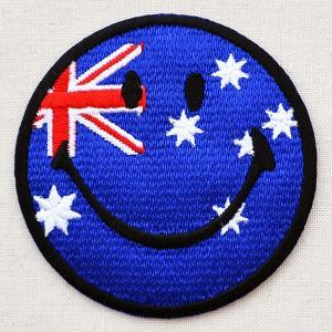 ワッペン スマイルマーク/スマイリーフェイス(オーストラリア国旗)|wappenstore
