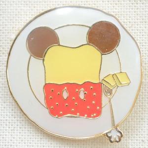 ピンバッジ ディズニー スウィーツシリーズ(ミッキーマウス/ジャムトースト) DYPIN-10|wappenstore