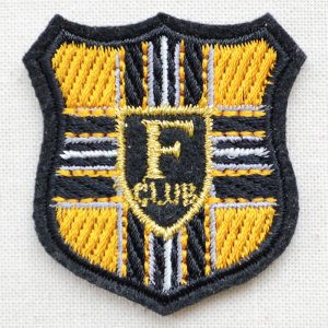 ミニエンブレムワッペン Fクラブ(イエロー)|wappenstore