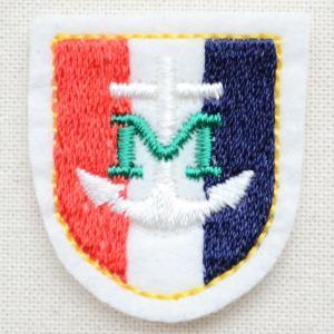 ミニエンブレムワッペン Mアンカー(トリコロール)|wappenstore