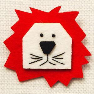 フェルトブローチ ライオン(動物/アニマル)|wappenstore
