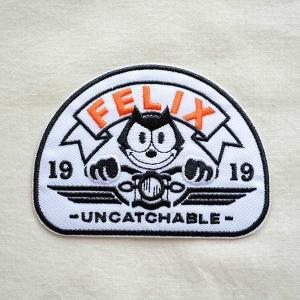 ワッペン フィリックスザキャット Felix The Cat(Head Light) 名前 作り方 FFB-001-HL|wappenstore