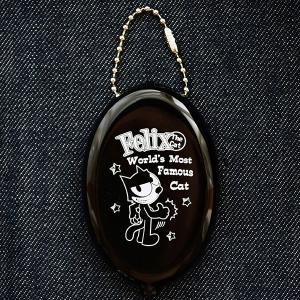 ラバーコインケース フィリックスザキャット Felix The Cat(ブラック/2015) 小銭入れ キーホルダー アメリカ製 FFO-002A|wappenstore