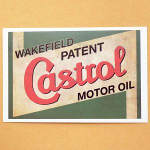 ガレージステッカー/シール カストロールオイル Castrol(ヨコ/グリーン) GS-007|wappenstore