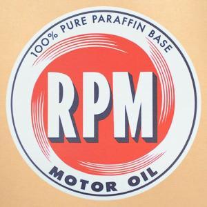 ガレージステッカー/シール RPMモーターオイル(ラウンド) GS-022|wappenstore