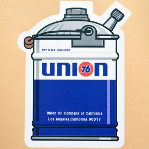 サイズ(約):タテ10cm×ヨコ7.8cm  ブルー/オレンジ/ホワイトほか。オールドガロン缶形。ア...