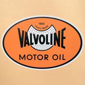 ガレージステッカー/シール バルボリンオイル Valvoline(オーバル) GS-035|wappenstore