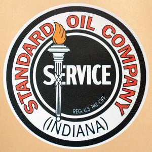 ガレージステッカー/シール スタンダードオイル Standard Oil(ラウンド) GS-036|wappenstore
