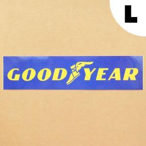 ロゴステッカー/シール グッドイヤー Goodyear(レクタングル/L)|wappenstore