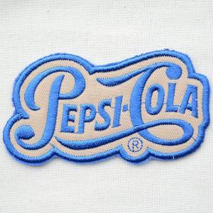 ワッペン ペプシコーラ Pepsi-Cola('40sロゴ/ダイカット) HCH-001B|wappenstore