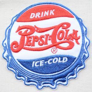 ワッペン ペプシコーラ Pepsi-Cola(1900sロゴ/ボトルキャップ/ダイカット) HCH-001C|wappenstore