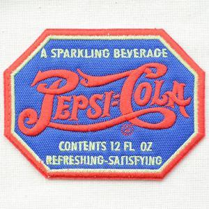 ワッペン ペプシコーラ Pepsi-Cola(1900sロゴ/ブルー/八角形) HCH-001G|wappenstore